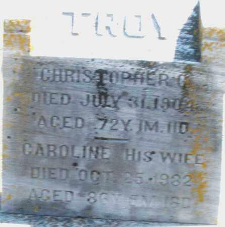 TROY, CHRISTOPHER - Preble County, Ohio | CHRISTOPHER TROY - Ohio Gravestone Photos