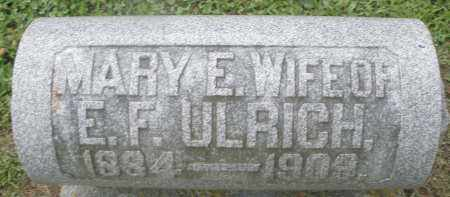 ULRICH, MARY E. - Preble County, Ohio | MARY E. ULRICH - Ohio Gravestone Photos
