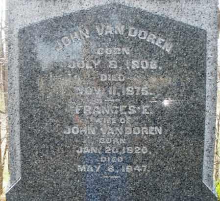 VAN DOREN, FRANCES E. - Preble County, Ohio | FRANCES E. VAN DOREN - Ohio Gravestone Photos