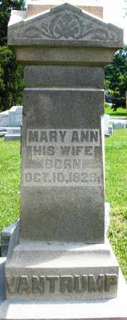 VANTRUMP, MARY ANN - Preble County, Ohio | MARY ANN VANTRUMP - Ohio Gravestone Photos