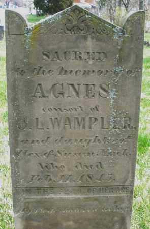 WAMPLER, AGNES - Preble County, Ohio | AGNES WAMPLER - Ohio Gravestone Photos