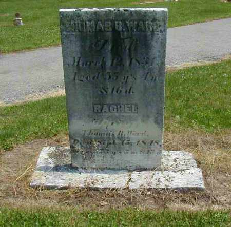 WARD, THOMAS B. - Preble County, Ohio | THOMAS B. WARD - Ohio Gravestone Photos