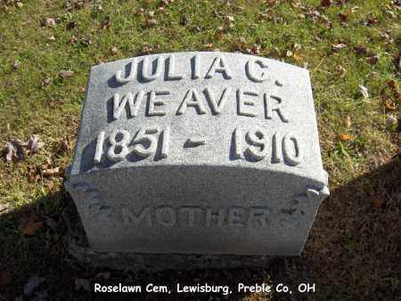 BEHNER WEAVER, JULIA - Preble County, Ohio | JULIA BEHNER WEAVER - Ohio Gravestone Photos