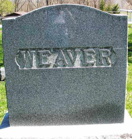 WEAVER, MONUMENT - Preble County, Ohio | MONUMENT WEAVER - Ohio Gravestone Photos