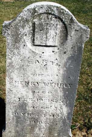 WEHRLY, SARAH - Preble County, Ohio | SARAH WEHRLY - Ohio Gravestone Photos