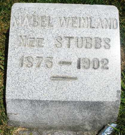 STUBBS WEINLAND, MABEL - Preble County, Ohio | MABEL STUBBS WEINLAND - Ohio Gravestone Photos