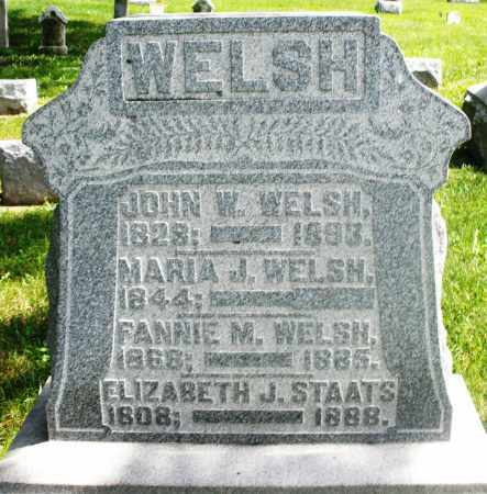 WELSH, FANNIE M. - Preble County, Ohio | FANNIE M. WELSH - Ohio Gravestone Photos