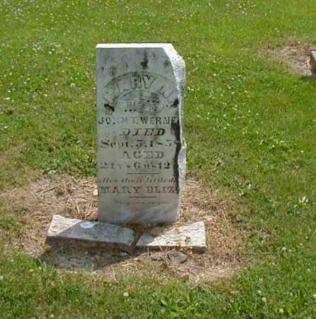 WERNER, MARY N. - Preble County, Ohio | MARY N. WERNER - Ohio Gravestone Photos