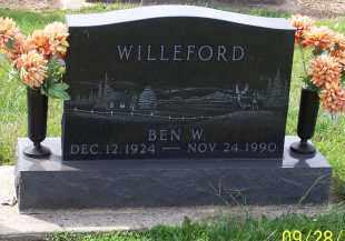 WILLEFORD, BEN W - Preble County, Ohio | BEN W WILLEFORD - Ohio Gravestone Photos