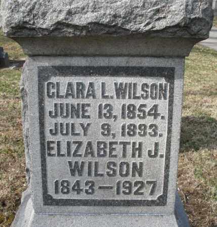 WILSON, ELIZABETH J. - Preble County, Ohio | ELIZABETH J. WILSON - Ohio Gravestone Photos