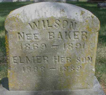 WILSON, MARIA - Preble County, Ohio | MARIA WILSON - Ohio Gravestone Photos