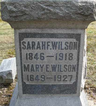 WILSON, SARAH F. - Preble County, Ohio | SARAH F. WILSON - Ohio Gravestone Photos