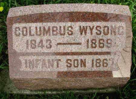 WYSONG, COLUMBUS - Preble County, Ohio | COLUMBUS WYSONG - Ohio Gravestone Photos