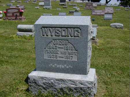 WYSONG, FANNIE - Preble County, Ohio | FANNIE WYSONG - Ohio Gravestone Photos