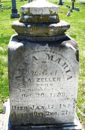 ZELLER, ANNA MARIA - Preble County, Ohio | ANNA MARIA ZELLER - Ohio Gravestone Photos