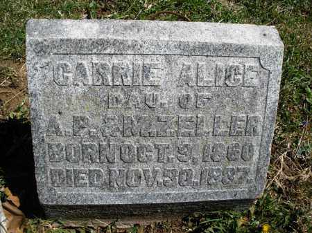 ZELLER, CARRIE ALICE - Preble County, Ohio | CARRIE ALICE ZELLER - Ohio Gravestone Photos