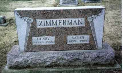 ZIMMERMAN, HENRY - Preble County, Ohio | HENRY ZIMMERMAN - Ohio Gravestone Photos
