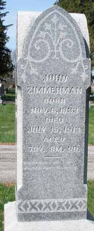 ZIMMERMAN, JOHN - Preble County, Ohio | JOHN ZIMMERMAN - Ohio Gravestone Photos