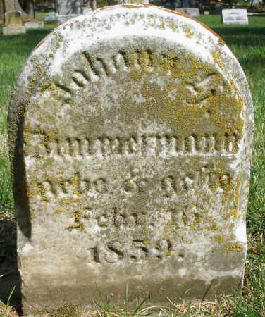 ZIMMERMANN, JOHANN - Preble County, Ohio | JOHANN ZIMMERMANN - Ohio Gravestone Photos
