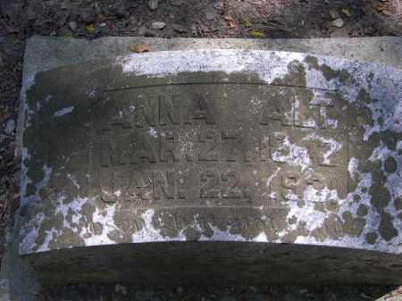 ALT, ANNA - Putnam County, Ohio | ANNA ALT - Ohio Gravestone Photos