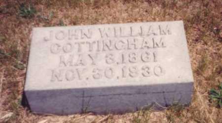 COTTINGHAM, JOHN WILLIAM - Putnam County, Ohio | JOHN WILLIAM COTTINGHAM - Ohio Gravestone Photos