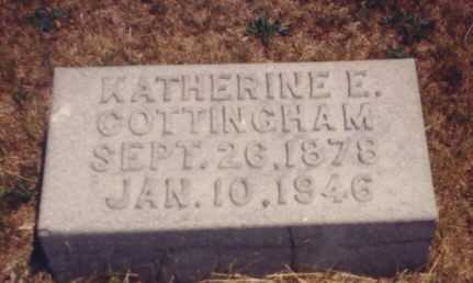 HARRISON COTTINGHAM, KATHERINE E. - Putnam County, Ohio | KATHERINE E. HARRISON COTTINGHAM - Ohio Gravestone Photos