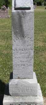 DETROW, ELIZABETH - Putnam County, Ohio | ELIZABETH DETROW - Ohio Gravestone Photos
