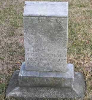 HAND, HILTON - Putnam County, Ohio | HILTON HAND - Ohio Gravestone Photos