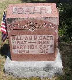 SAER, MARY - Putnam County, Ohio | MARY SAER - Ohio Gravestone Photos