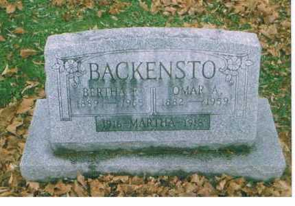 BACKENSTO, MARTHA - Richland County, Ohio | MARTHA BACKENSTO - Ohio Gravestone Photos
