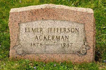 ACKERMAN, ELMER JEFFERSON - Richland County, Ohio | ELMER JEFFERSON ACKERMAN - Ohio Gravestone Photos
