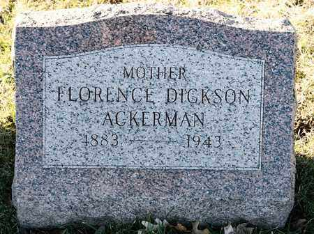 ACKERMAN, FLORENCE - Richland County, Ohio | FLORENCE ACKERMAN - Ohio Gravestone Photos