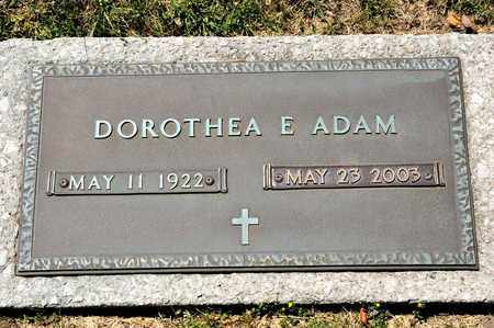 ADAM, DOROTHEA E - Richland County, Ohio | DOROTHEA E ADAM - Ohio Gravestone Photos