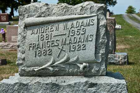 ADAMS, ANDREW W - Richland County, Ohio | ANDREW W ADAMS - Ohio Gravestone Photos