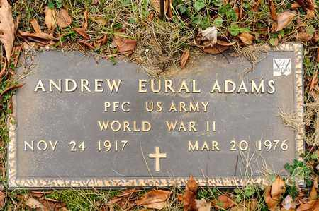 ADAMS, ANDREW EURAL - Richland County, Ohio | ANDREW EURAL ADAMS - Ohio Gravestone Photos