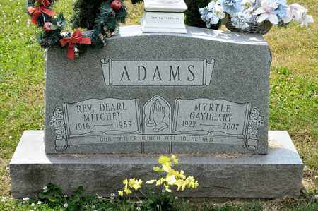 ADAMS, DEARL MITCHEL - Richland County, Ohio | DEARL MITCHEL ADAMS - Ohio Gravestone Photos