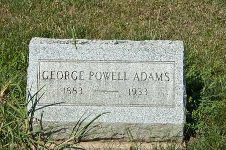 ADAMS, GEORGE POWELL - Richland County, Ohio | GEORGE POWELL ADAMS - Ohio Gravestone Photos