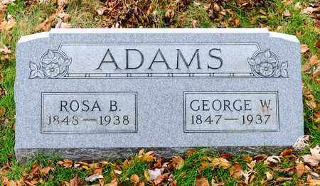 ADAMS, GEORGE W - Richland County, Ohio | GEORGE W ADAMS - Ohio Gravestone Photos