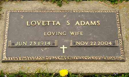 ADAMS, LOVETTA S - Richland County, Ohio | LOVETTA S ADAMS - Ohio Gravestone Photos