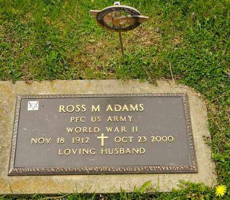 ADAMS, ROSS M - Richland County, Ohio | ROSS M ADAMS - Ohio Gravestone Photos