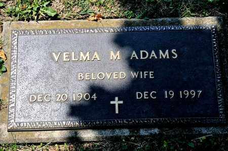 ADAMS, VELMA M - Richland County, Ohio | VELMA M ADAMS - Ohio Gravestone Photos