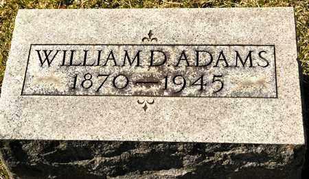 ADAMS, WILLIAM D - Richland County, Ohio | WILLIAM D ADAMS - Ohio Gravestone Photos