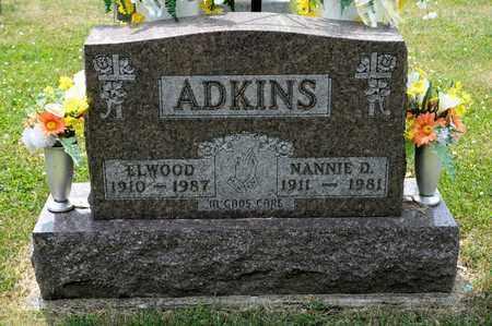ADKINS, NANNIE D - Richland County, Ohio | NANNIE D ADKINS - Ohio Gravestone Photos