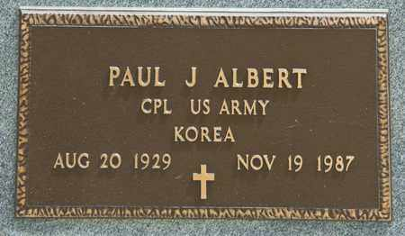 ALBERT, PAUL J - Richland County, Ohio | PAUL J ALBERT - Ohio Gravestone Photos