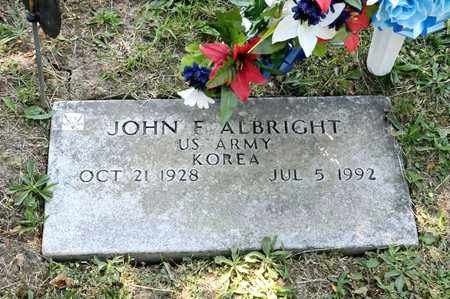 ALBRIGHT, JOHN F - Richland County, Ohio | JOHN F ALBRIGHT - Ohio Gravestone Photos