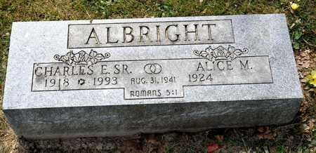 ALBRIGHT SR, CHARLES E - Richland County, Ohio | CHARLES E ALBRIGHT SR - Ohio Gravestone Photos
