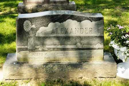 ALEXANDER, IDA E - Richland County, Ohio | IDA E ALEXANDER - Ohio Gravestone Photos