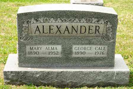 ALEXANDER, GEORGE CALL - Richland County, Ohio | GEORGE CALL ALEXANDER - Ohio Gravestone Photos