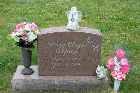 ALFREY, MARY ELIZA - Richland County, Ohio | MARY ELIZA ALFREY - Ohio Gravestone Photos