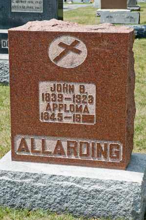 ALLARDING, JOHN B - Richland County, Ohio | JOHN B ALLARDING - Ohio Gravestone Photos